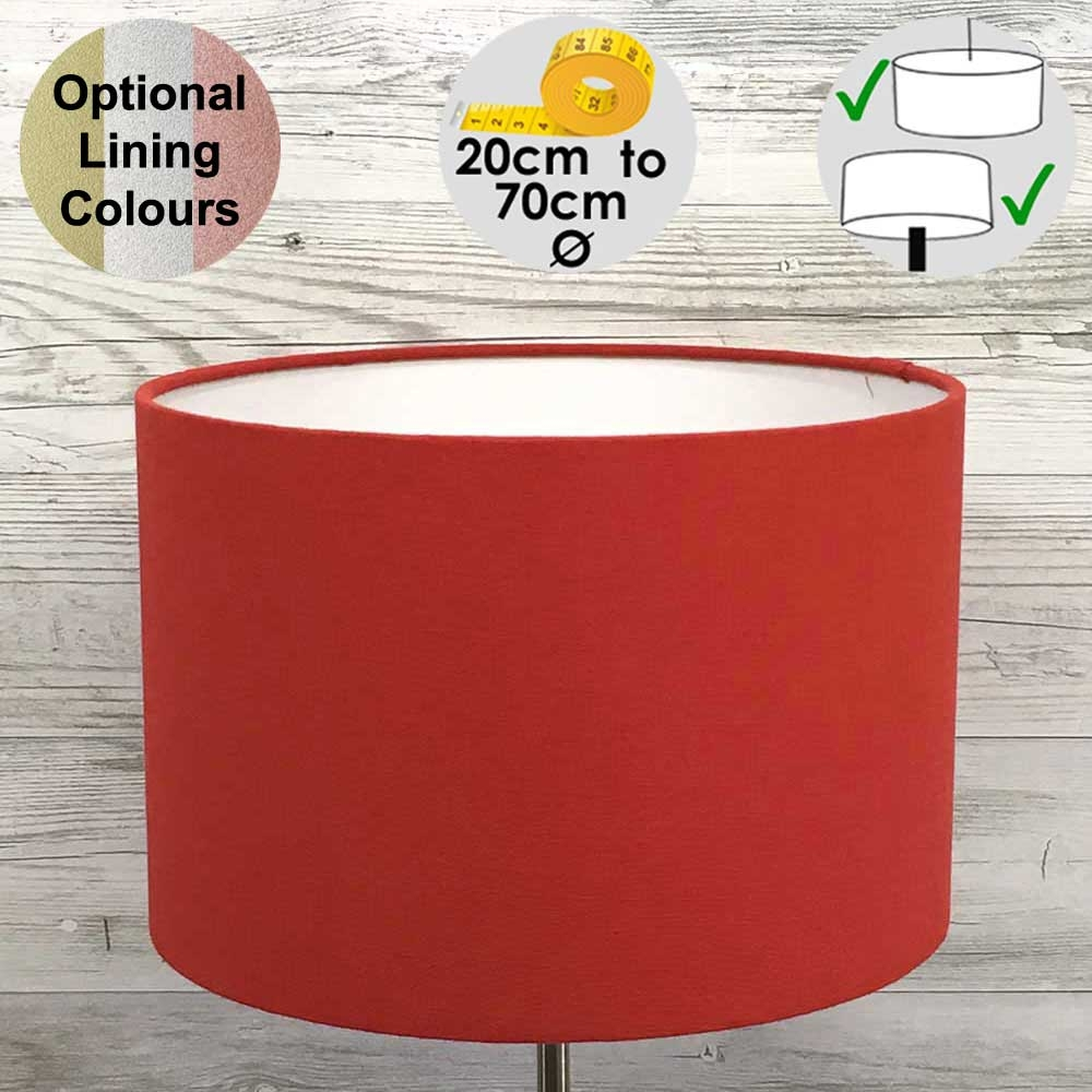 Aura Red Drum Table Lampshade